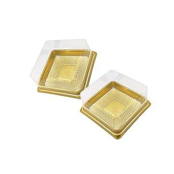 Recyclable Clear Transparent Plastic Square Cake Boxes