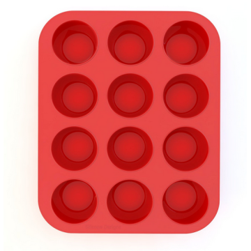 silicone muffin mold and pan 12 cups