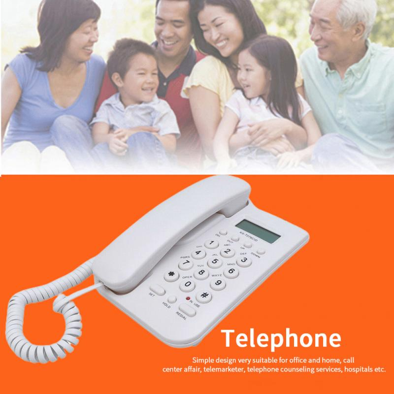 Cordless Digital Desktop English Portable Business Hotel Landline Telephone For Elderly Wall Mount ID Display Call Home Office