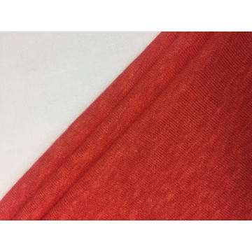 Linen Polyester Single Jersey Solid Fabric