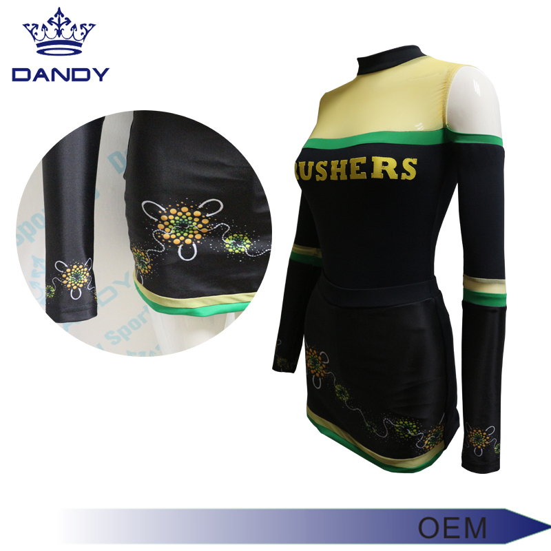 long sleeve cheerleading uniforms