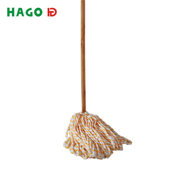 Wet Deck Cotton Mop with Solid Wood Handle