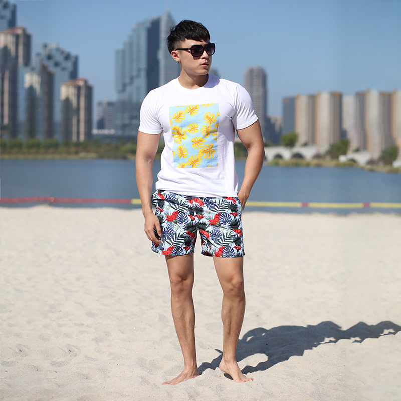 150GSM 100%Cotton T-Shirt with Big Water Print