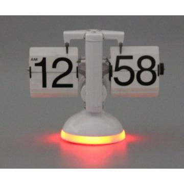 Small Balance Flip Desk Clock with LED Lights