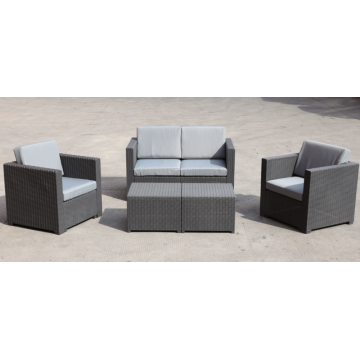 plastic sofa with 4 set