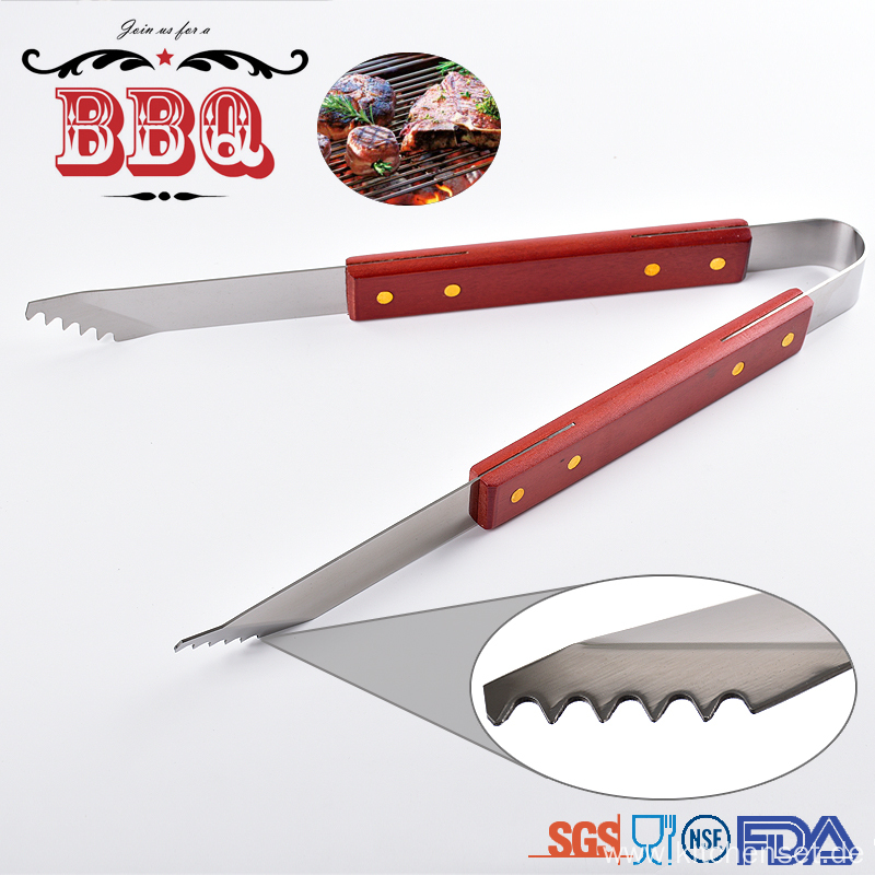 bbq grilling tool wooden handle bbq tools set