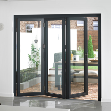 Lingyin Construction Materials Ltd Aluminum Folding Bifold Doors Toughened Glass Door