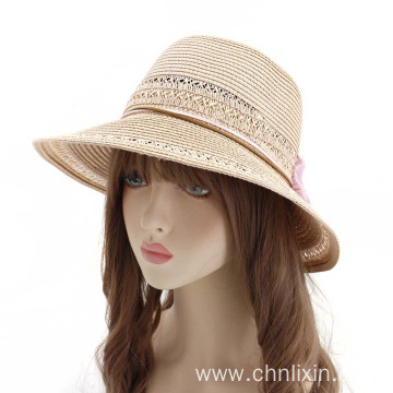 Outing beach cap travel fedora plain straw hat
