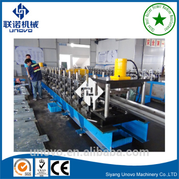 Highway guardrail roll forming line