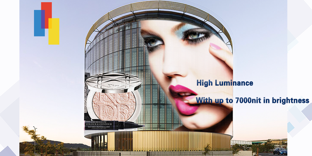 Glass Display with high brightness of P7