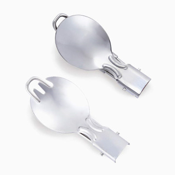 Daintiness Stainless steel folding spoon