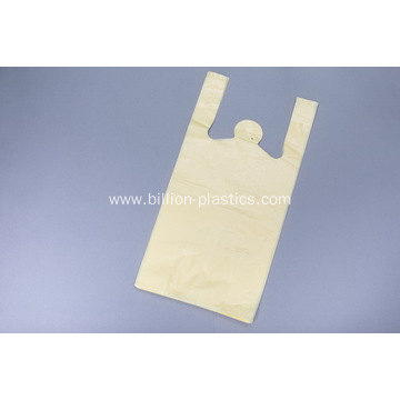 Yellow Shopping Plastic Bags with Handle