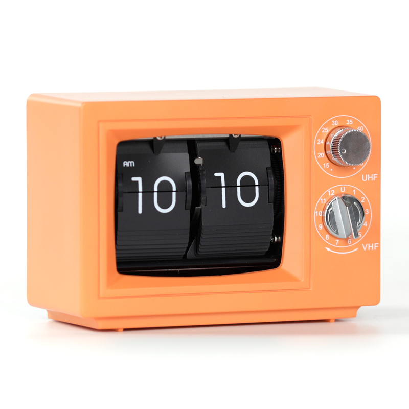 Small Desk TV Flip Clock with Light
