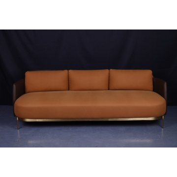 Brass 3-seat tape sofa