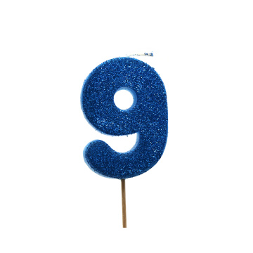 Birthday Gold Glitter Number Candle