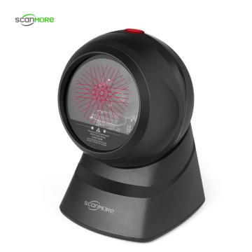 Desktop 1D wired omnidirectional laser barcode scanner