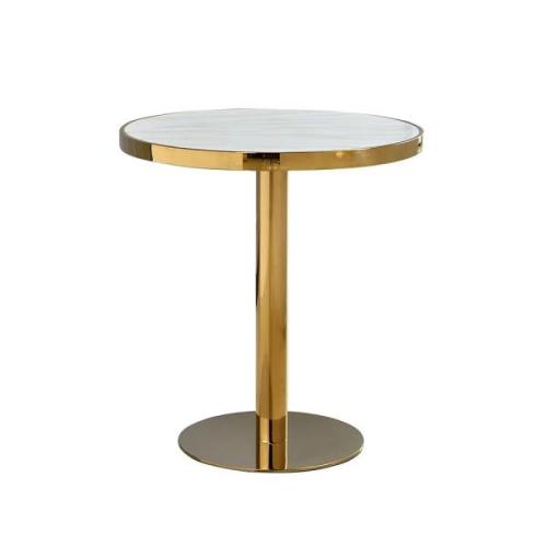 commercial  titanium gold stainless steel table base
