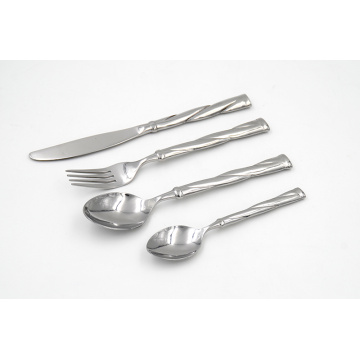 Mirror finish forged stainless steel cutlery set
