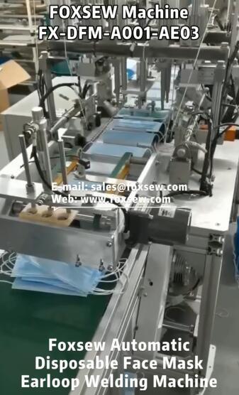 Automatic Flat Face Mask Earloop Welding Machine Line