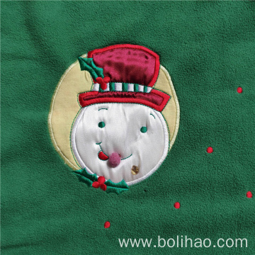 Embroidered Anti Pilling Polar Fleece Throw Blanket