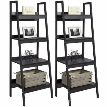Products Furniture Set Pair of 4-Shelf Ladder Bookcases