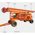 Diesel Engine Trailer Cable Percussion Drilling Rig