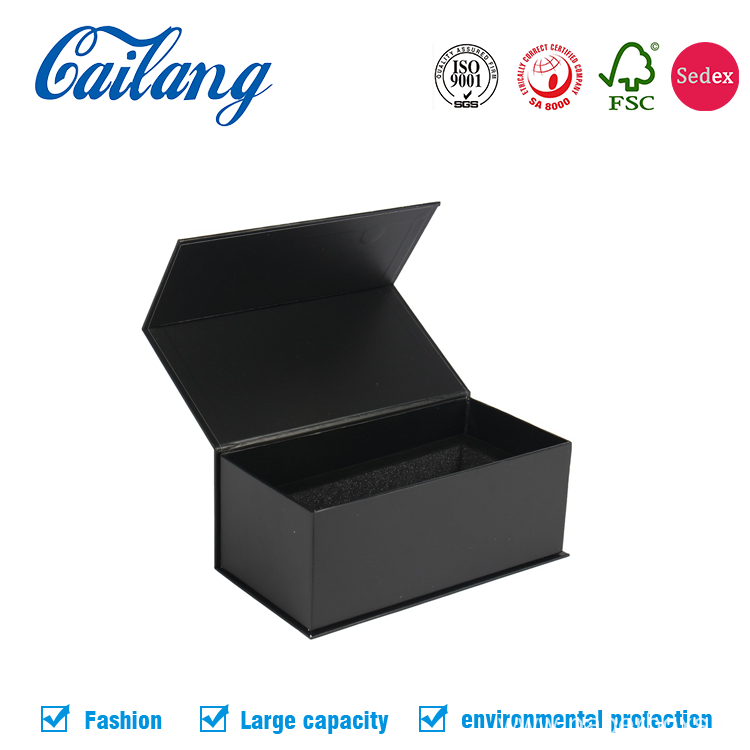 Black Printing Box With lid for Luxury Shoe