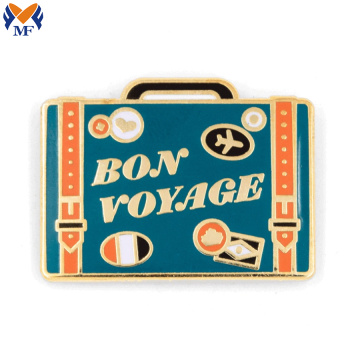 Metal Custom Bon Voyage Camera Flash Pin
