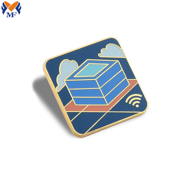 Custom weather design lapel enamel pin