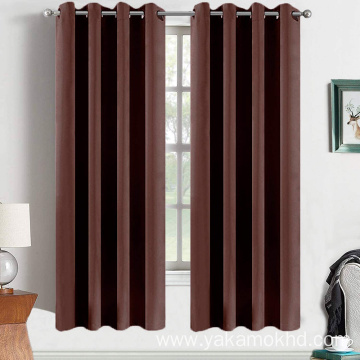 Chocolate Brown Blackout Curtains 63 Inch Long