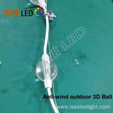 Anti-wind 3D LED Ball Outdoor IP65