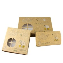 Kraft paper egg tart packaging box