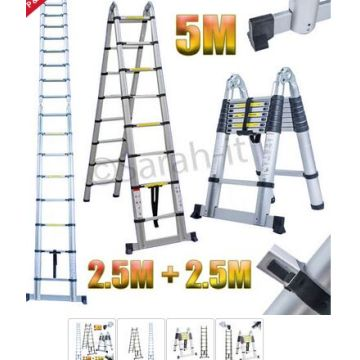 5m aluminum telescopic ladder