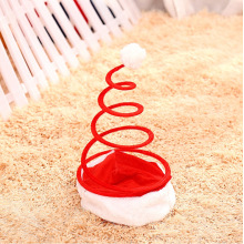 Creative Spring Christmas Hats Mechanical Spring Caps Adult Kids XMAS Home Decor New Year's Gifts Party Supplies Christmas Hat