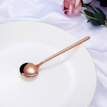 Korean  Long Handled  Small Circular Spoon