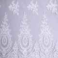 Double Border Elegant Bridal Dress Cord Embroidery Fabric