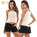 Ladies Knitted Slimming Strapless Clothing Street Tank Tops