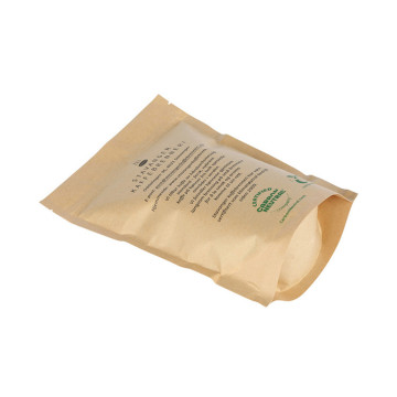 Compostable coffee bag stand up pouches with valve