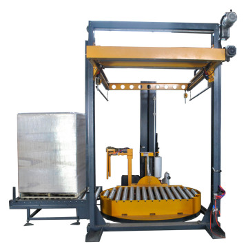 Horizontal PE film stretch wrapping machine