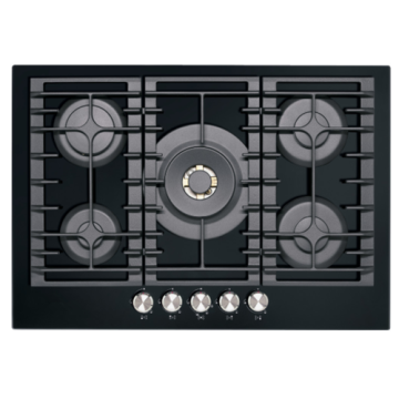 Kitchenaid Gas Hob Black Glass