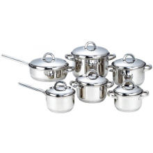 12 Pieces Cookware Set with 7-layer Capsulated Bottom