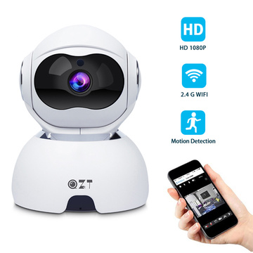 QZT Dome Wifi IP Camera 1080P Wireless Infrared Night Vision Camera Indoor 360° Baby Monitor IP Dog Pet Camera For Home Security