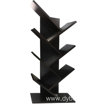 Bookcases and Book Shelves 7 Shelf Tree Bookshelf MDF Black Small Book Shelves Wood Compact Book Rack Organizer Shelf Display
