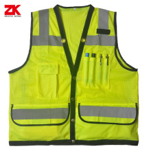 Shot sleeve yellow safety garment