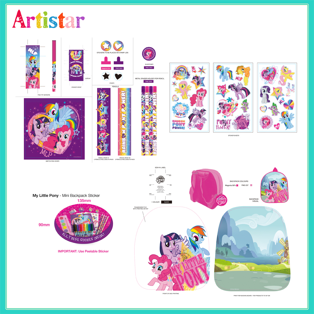 My Little Pony Mini Backpack With Stationery 2