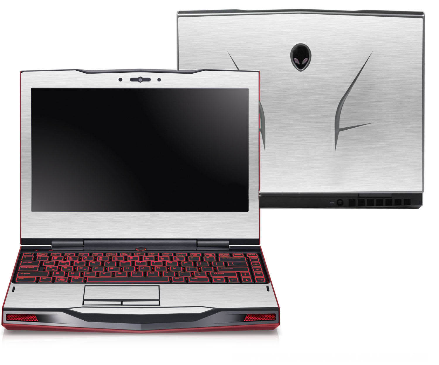 KH Laptop Brushed Glitter Sticker Skin Cover Protector for Alienware 17 M17X R3 R4 ANW17 17.3-inch 2012 release