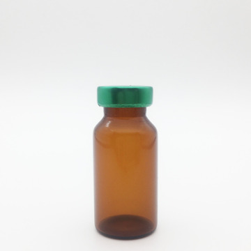 8ml Amber Sterile Serum Vials Green Cap