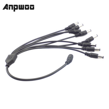 12V DC Power Splitter Plug 1 Female to 2 3 4 5 6 8 Male CCTV Cable Camera Cable CCTV Accessories Power Supply Adapter 2.1*5.5mm