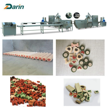 Single Screw Extruded Dog Chews Machine Processing