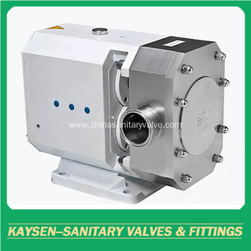 Sanitary transfer rotary lobe pumps without motor